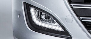 Fog lamps with LED daytime running lights (DRL)
