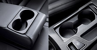 Front console & rear seat cup holders